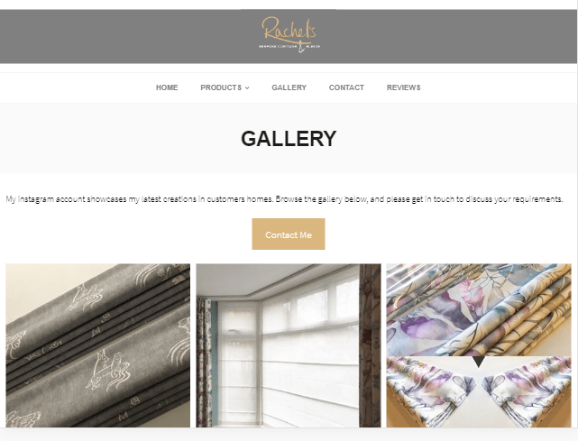 Gallery with prominent call to action