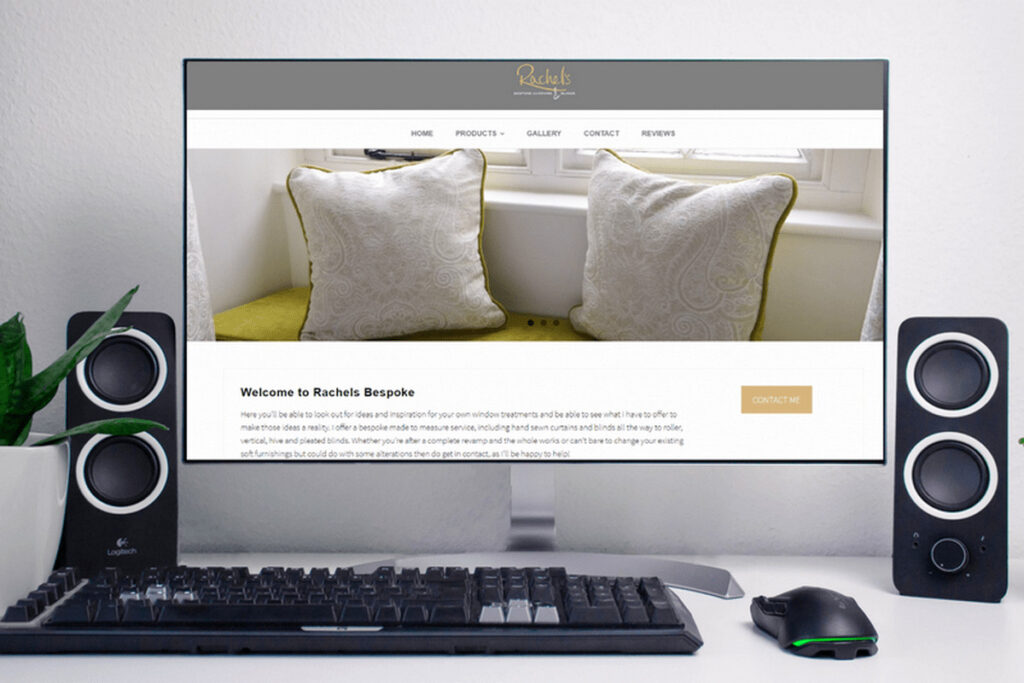 Rachels Bespoke Website Home Page