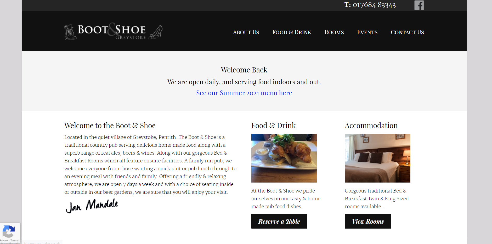 Boot & Shoe Home Page